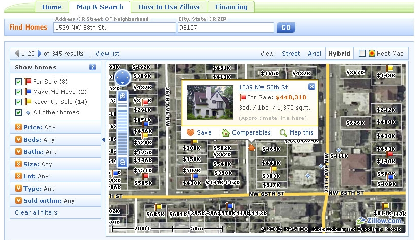 zillow make me move Zillow Free Listings & Other Features