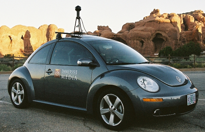 google maps camera car