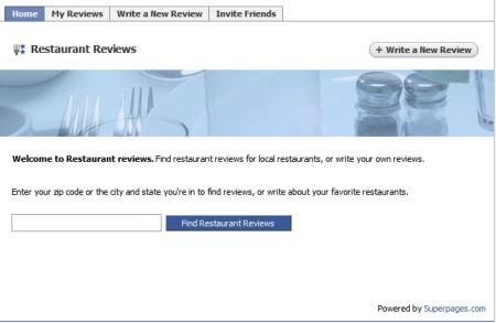 Facebook superpages
