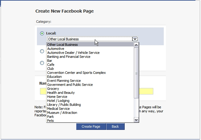 That sends you to a blank Facebook profile page, which is quite simple to