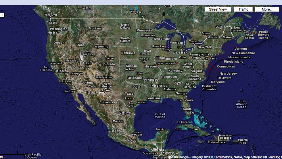 google earth maps