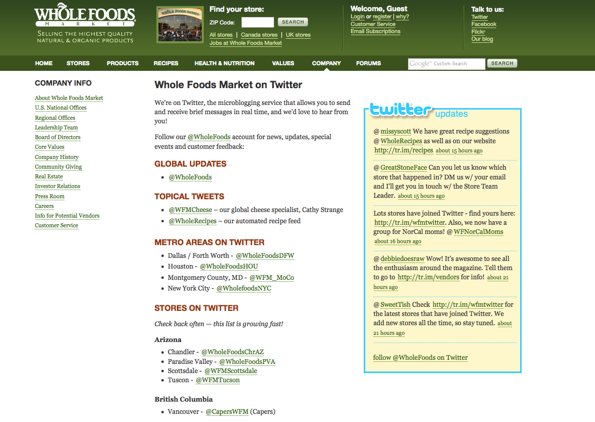 Competitor Response To Whole Foods