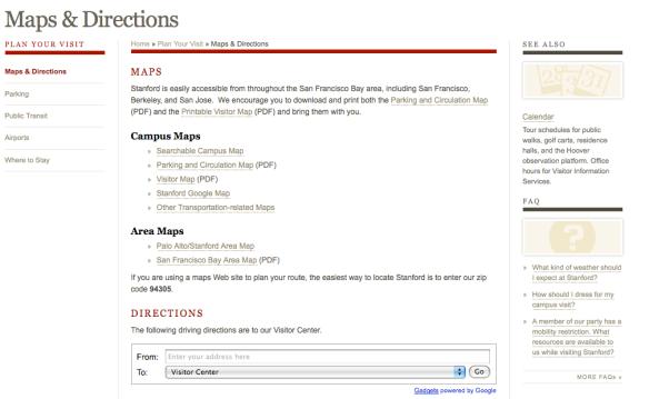 Google Offers B2C Directions Widget   Screenwerk on