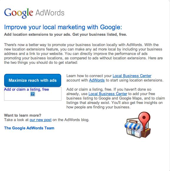 Google's 'Local Extensions' Redux | Screenwerk