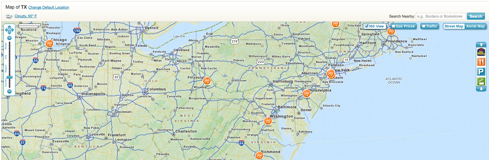 Playing Catch-up MapQuest Launches \'360 View\' | Screenwerk