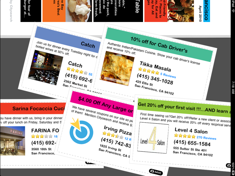 Citysearch deals